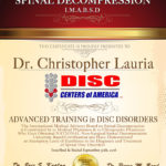 Dr. Lauria Receives Prestigious Back Pain Treatment Award